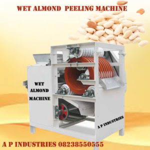 wet almond peeling machine